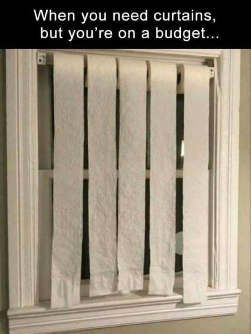 Toilet paper curtains