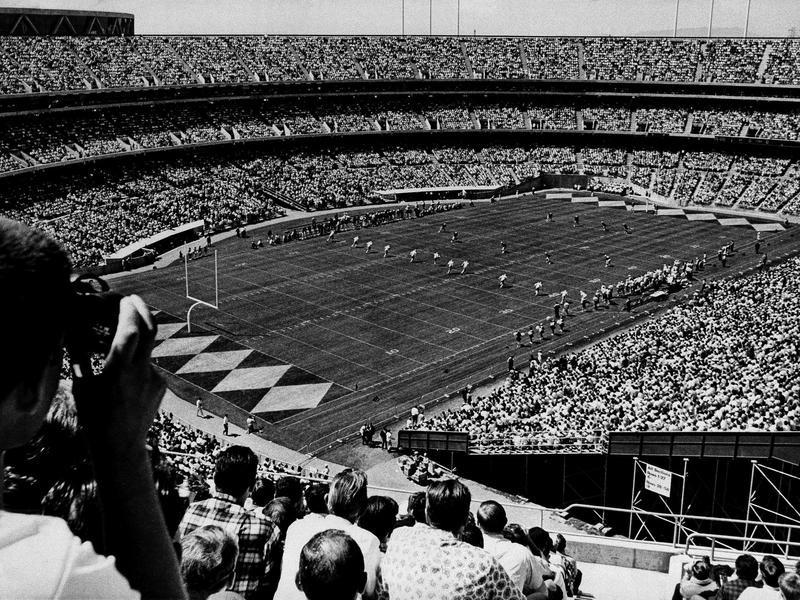Oakland Coliseum in 1967