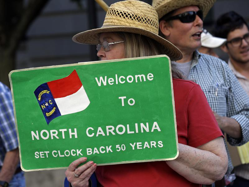 Moral Monday protester in Raleigh, North Carolina