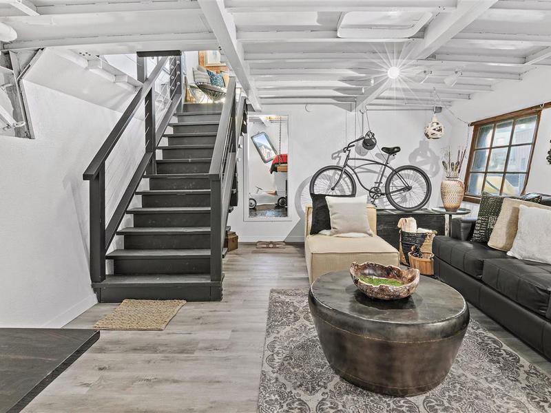 Houseboat living area