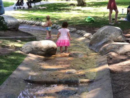 Coldwater Canyon Park water play area