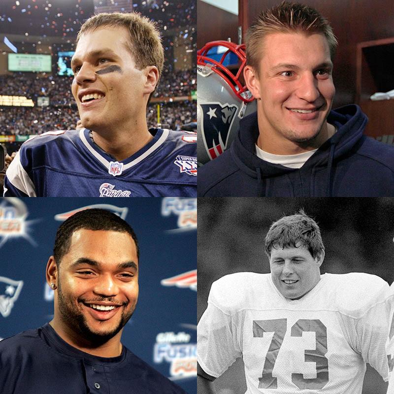 Tom Brady, Rob Gronkowski, John Hannah, Richard Seymour