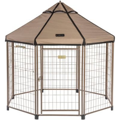 Tractor Supply dog kennel: Advantek 5-Foot Pet Gazebo With Canopy