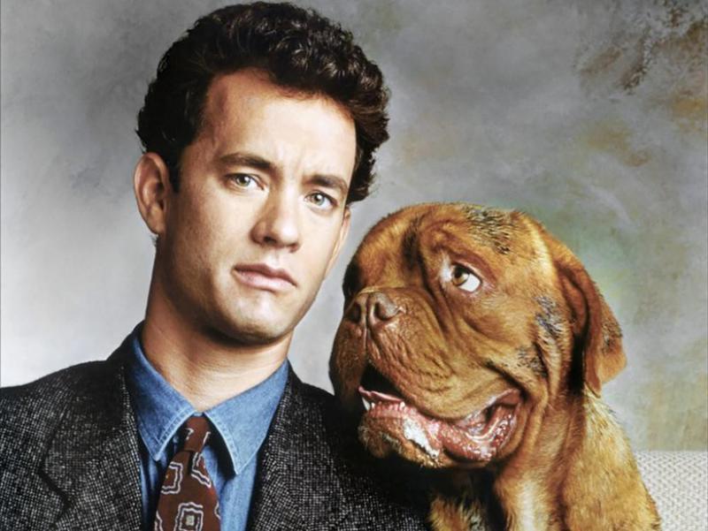 Tom Hanks and Beasley the Dog in Turner & Hooch