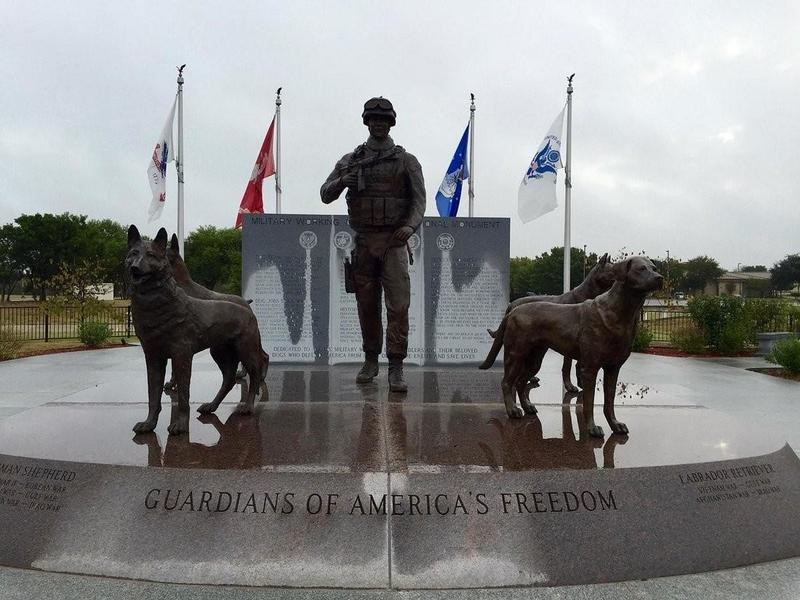 U.S. Military Working Dogs Memorial in San Antonio, Texas
