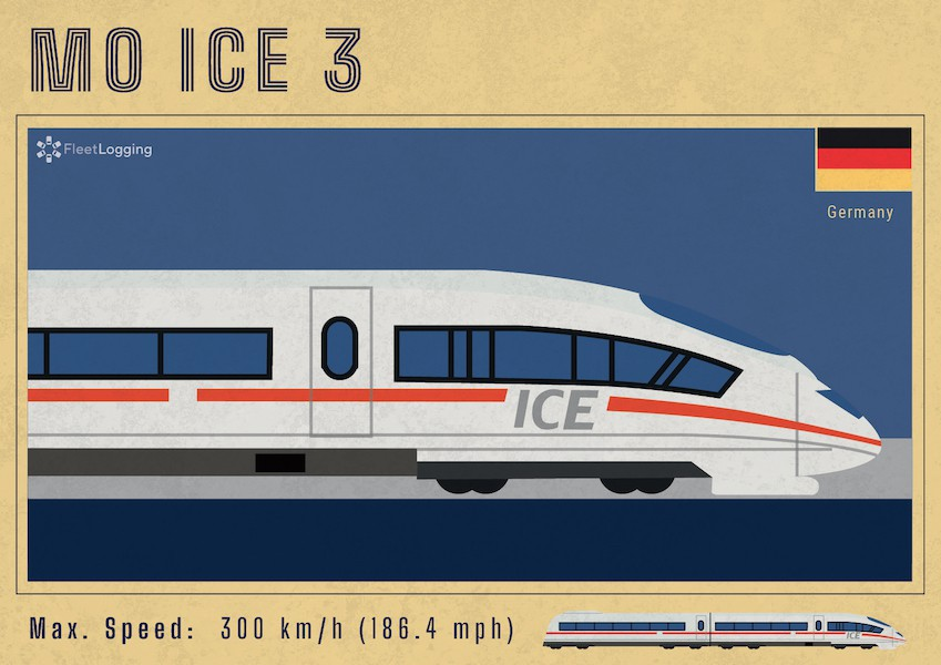 MO ICE 3 trains in Germany