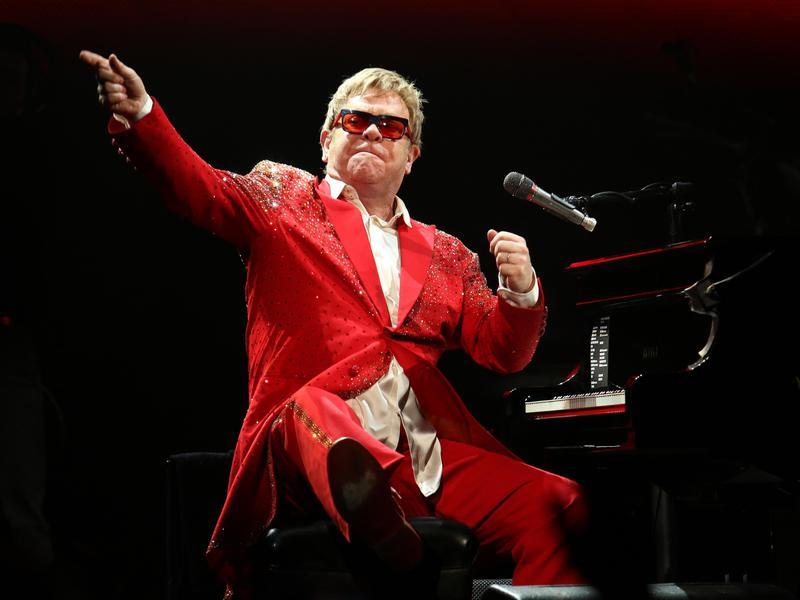 Elton John performs at the Barclays Center