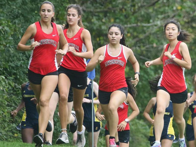 Lawrenceville cross country runners