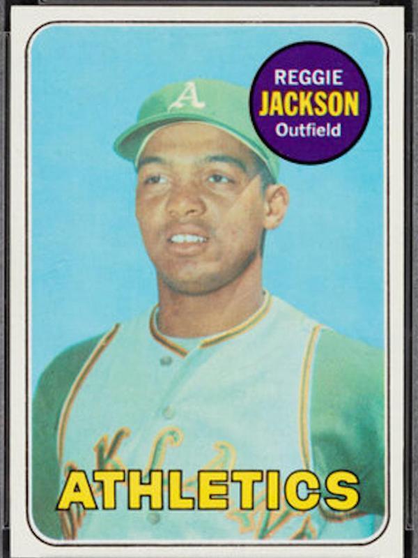 Reggie Jackson 1969 Topps rookie card