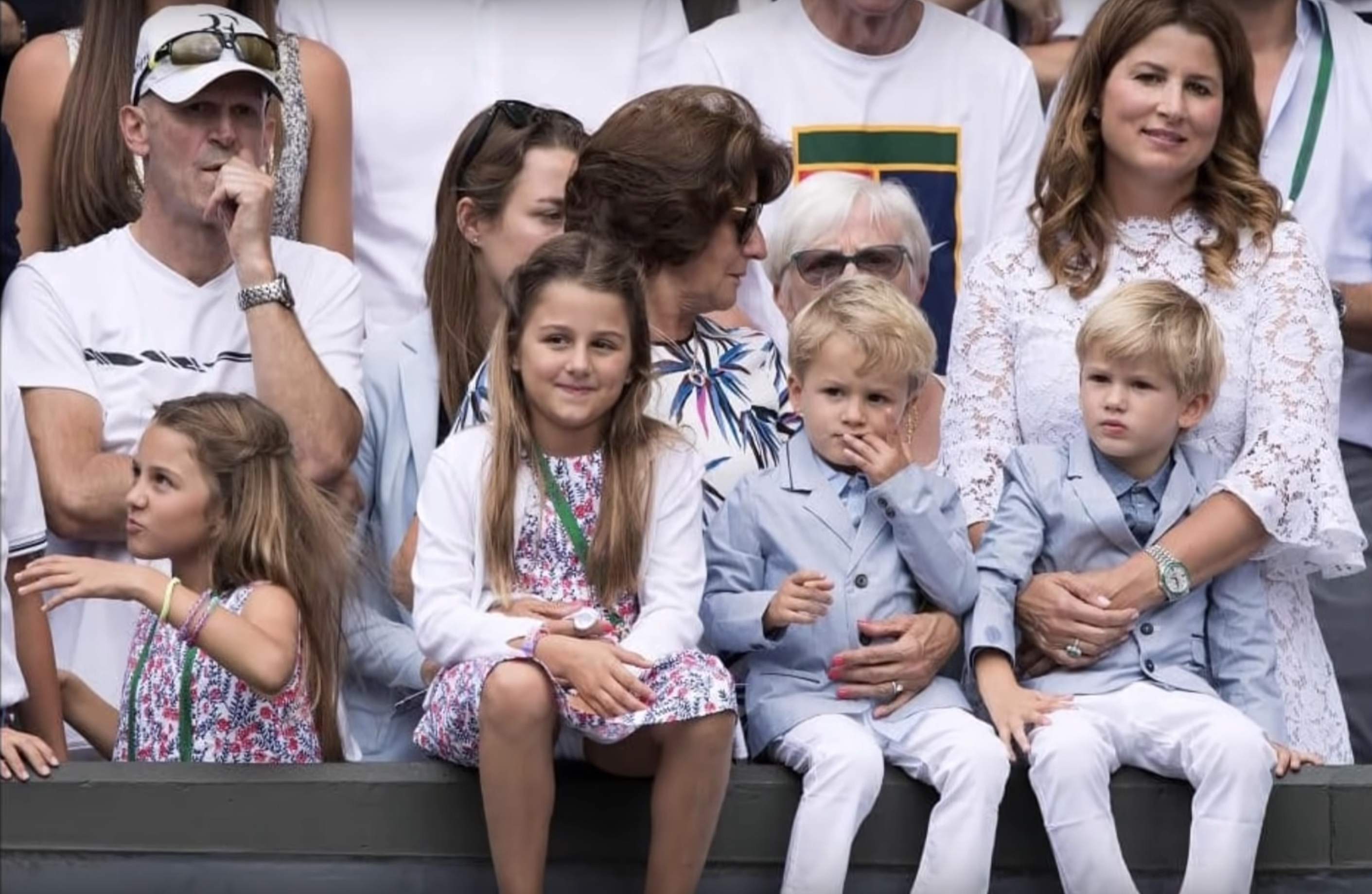 Roger Federer's wife and kids