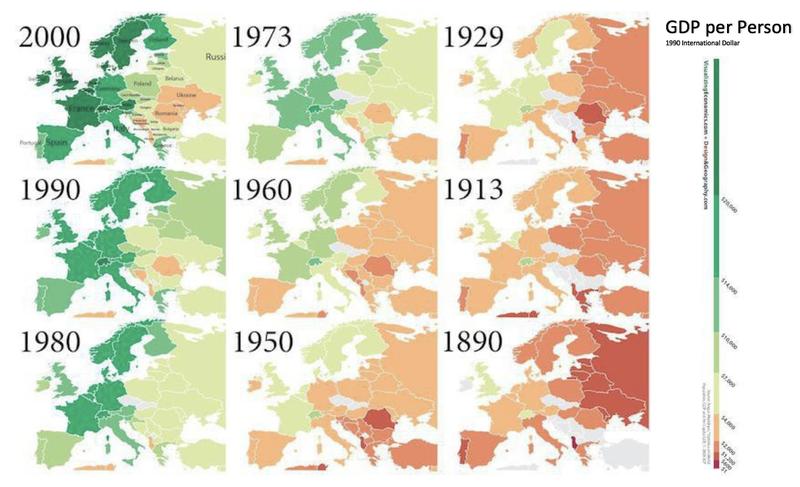 European GDP Map