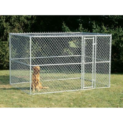 Tractor Supply dog kennel: K9 Kennel Steel Chain Link Portable Kennel