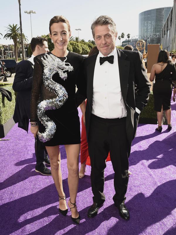 Hugh Grant and Anna Elisabet Eberstein