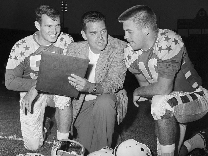 Dan Currie (left), Otto Graham (center) and King Hill