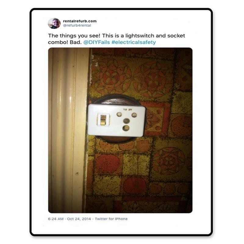 Light switch and socket mishap