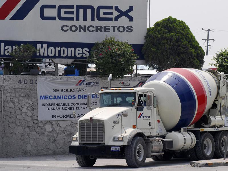 Cemex Truck and Sign