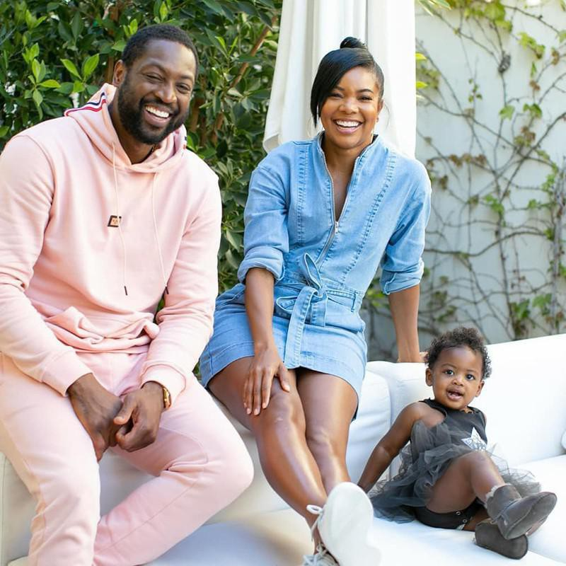 Gabrielle Union and Dwayne Wade and Daughter Kaavia