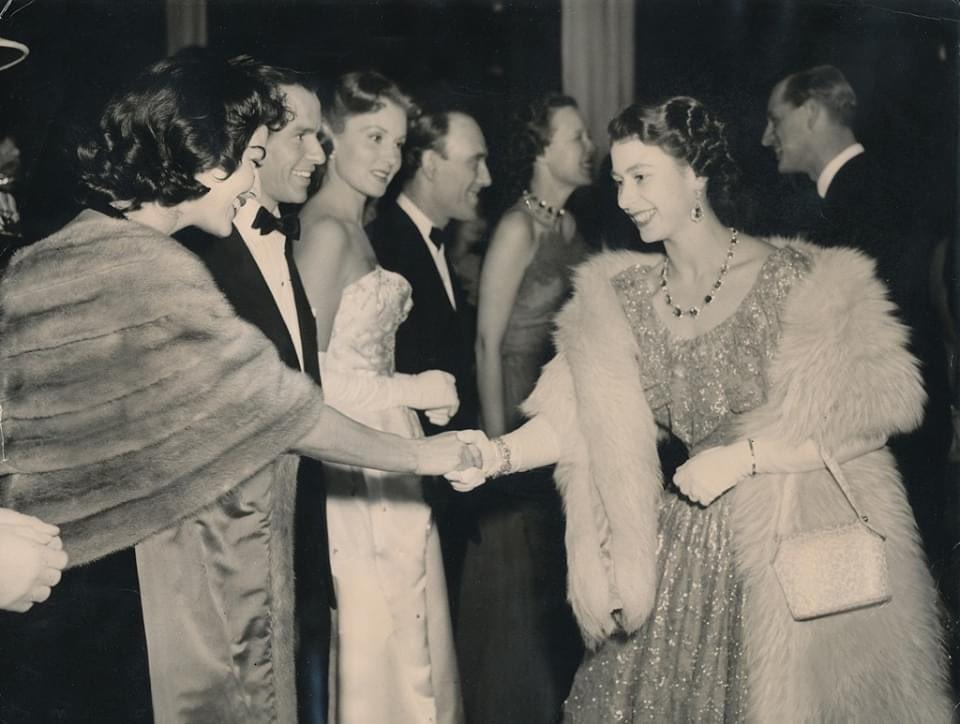 Ava Gardner, Frank Sinatra and Princess Elizabeth
