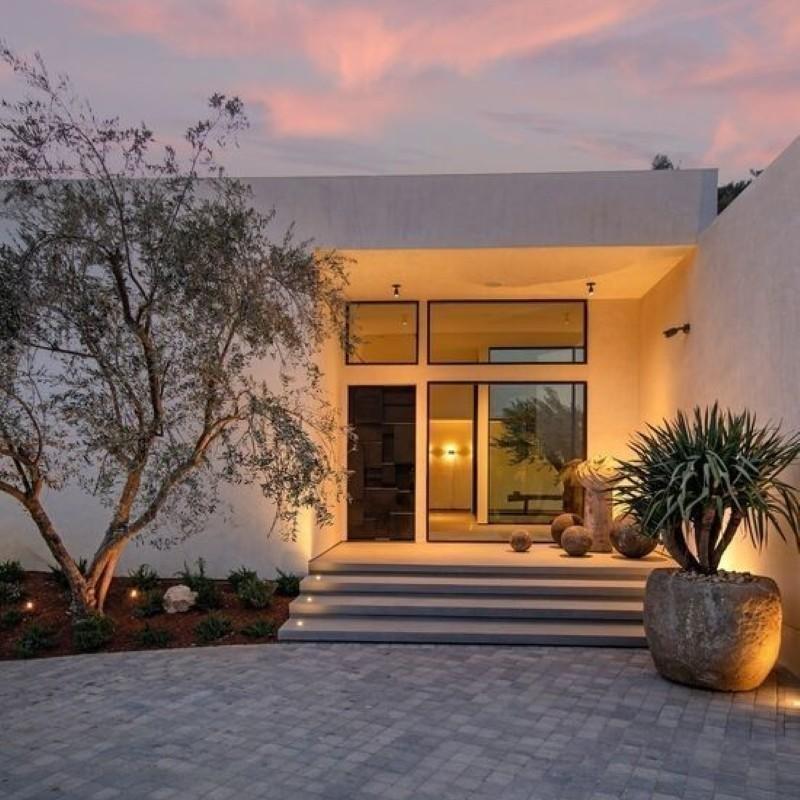 Modern house front door