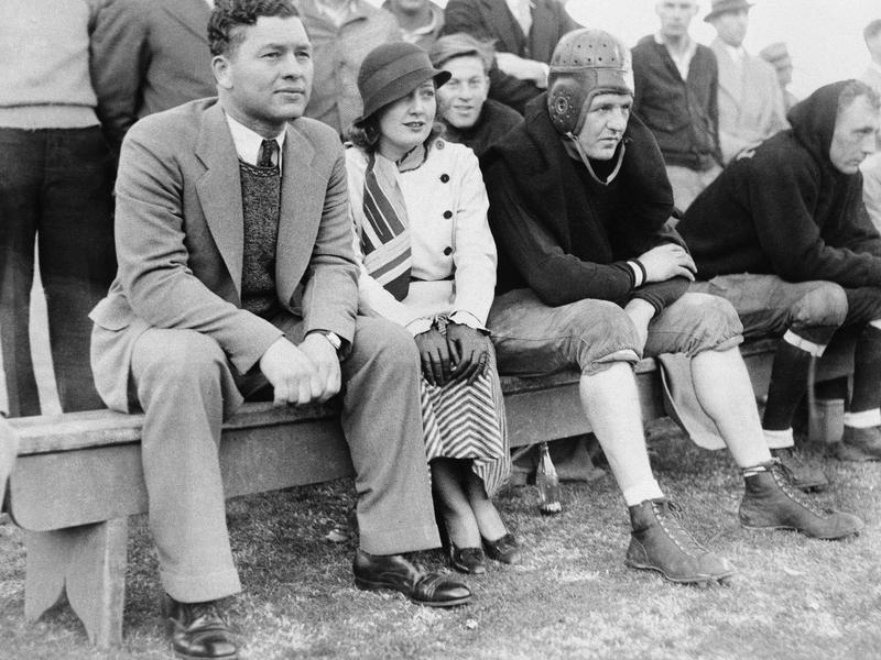 Curly Lambeau, Myrna Kennedy and Red Grange