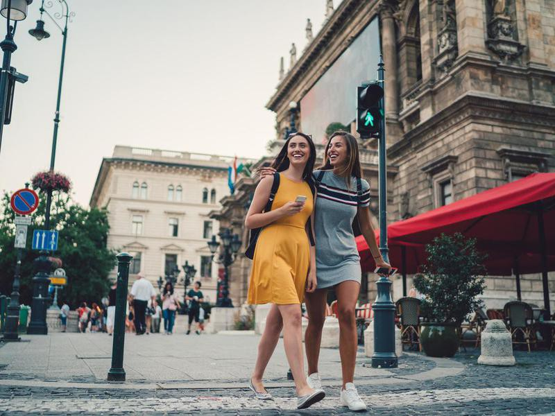 Young women in Budapest