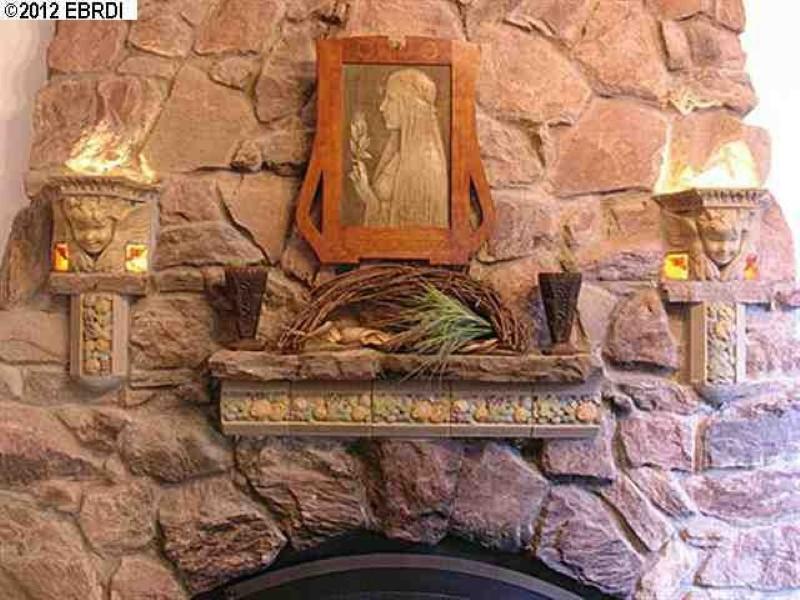 1970s fireplace