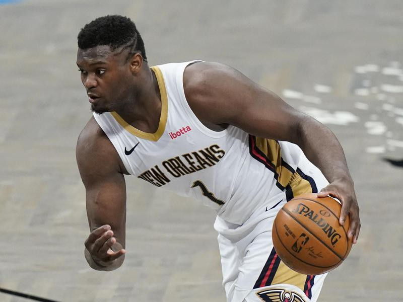 New Orleans Pelicans' Zion Williamson in action