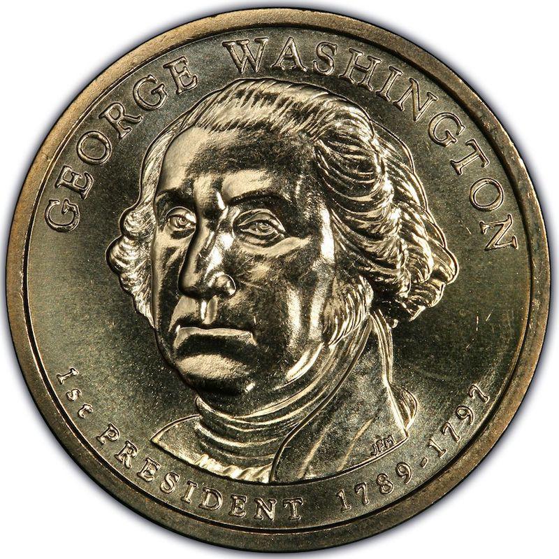 2007 U.S. Missing Edge Lettering Presidential Dollar