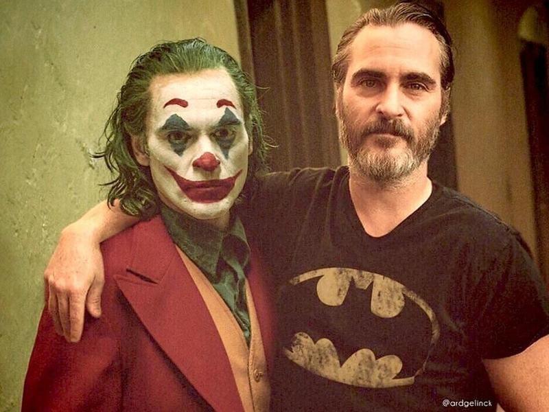 Joaquin Phoenix and the Joker