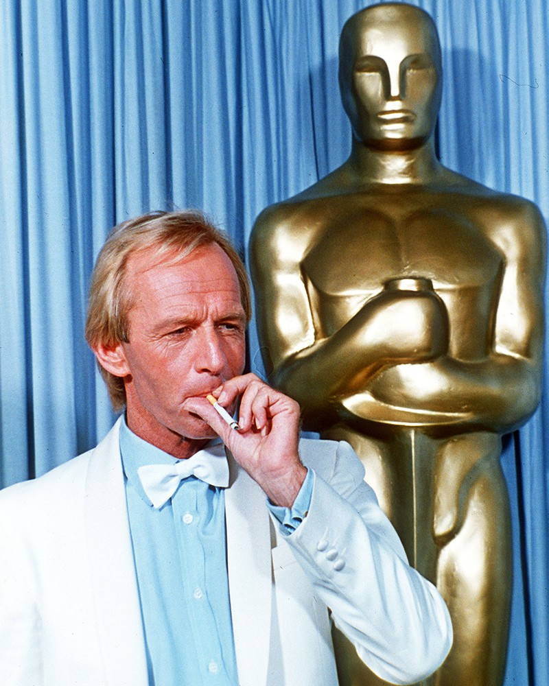 Paul Hogan smoking