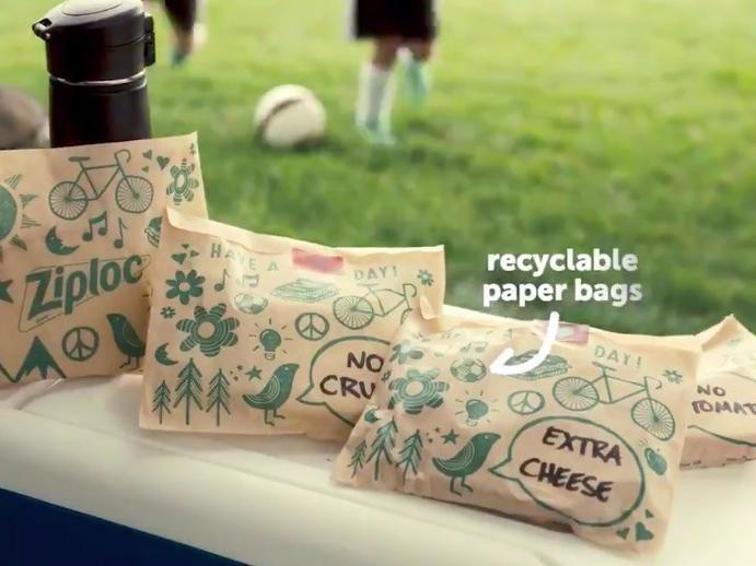 Ziploc paper bags