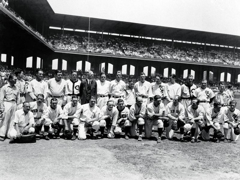 The American League team poses