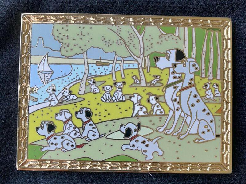 Dalmatians Walk in the Park Masterpiece pin