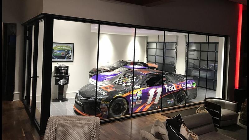 Denny Hamlin's garage