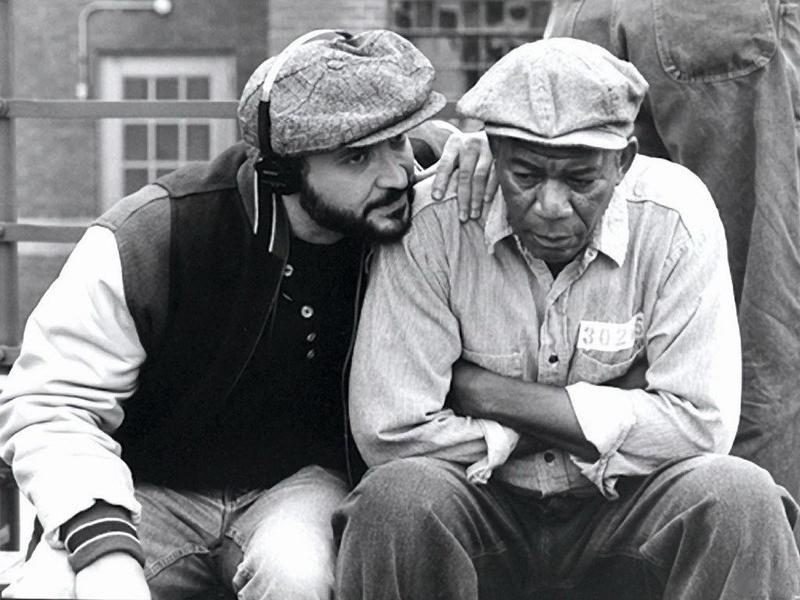 Frank Darabont and Morgan Freeman