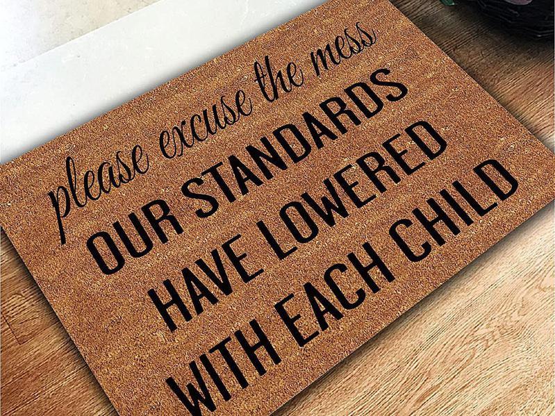 Funny doormat for parents