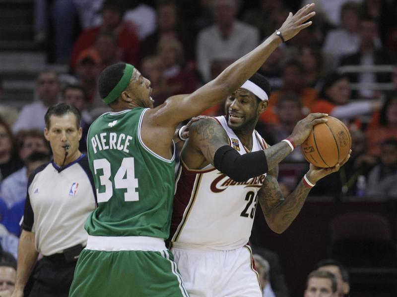 Paul Pierce and LeBron James