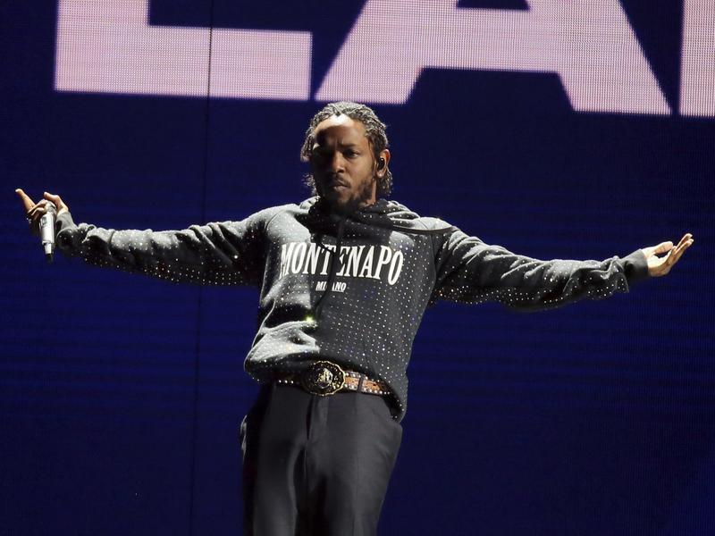 Kendrick Lamar performs at the Brit Awards 2018