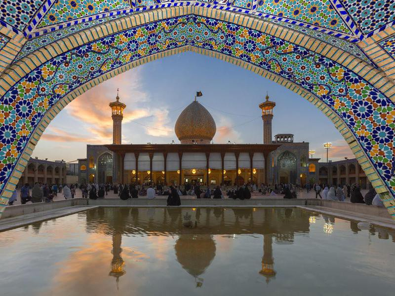 Holy Shrine of Shah Cheragh in Shiraz, Iran