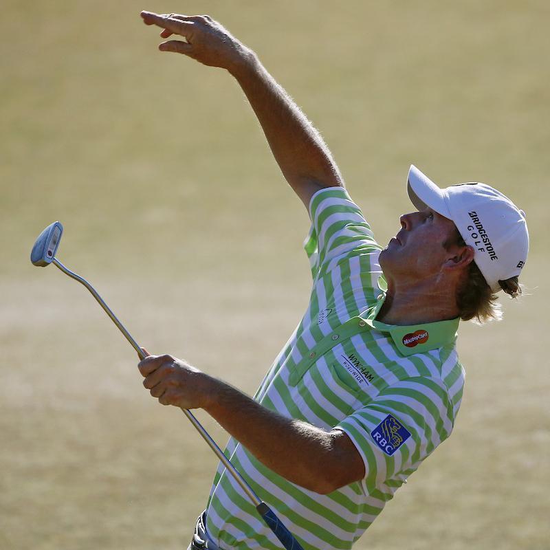 Brandt Snedeker tosses ball
