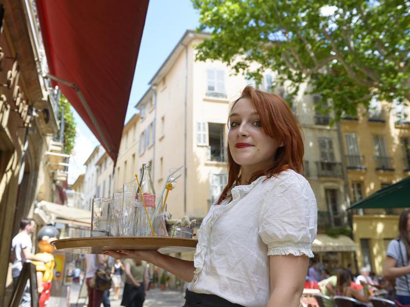 Waitress in Aix-en-Provence, France