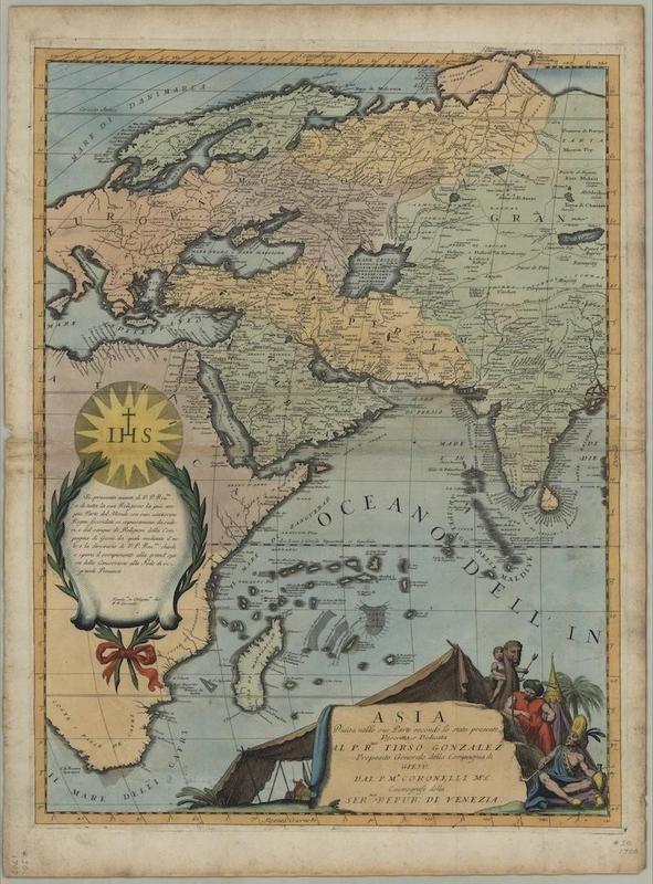 Vincenzo Coronelli Map of Asia