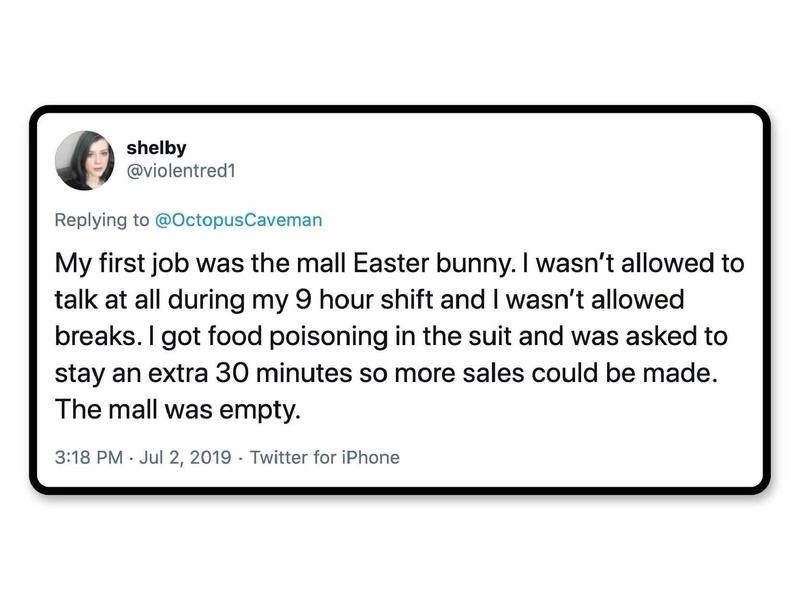 Easter Bunny in a mall