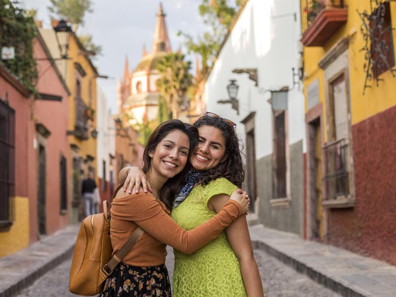Women in San Miguel de Allende, Mexico