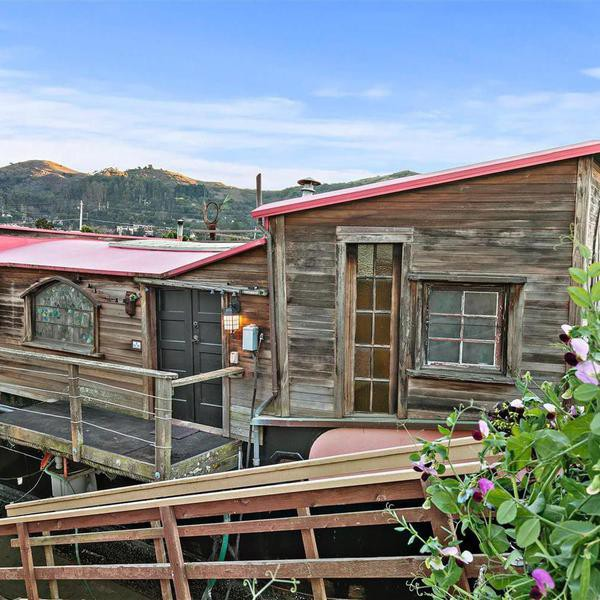 Shel Silverstein's Old Sausalito Houseboat, Then and Now