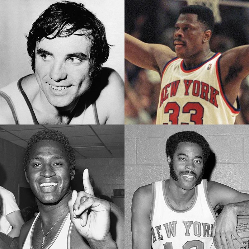 Dave DeBusschere, Patrick Ewing, Clyde Frazer, Willis Reed