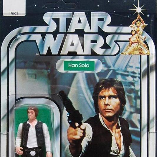 """Han Solo """"Small Head"""" figure (1980) (tie)"""
