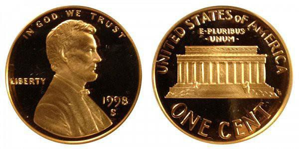 1998 S Lincoln Memorial Cent: Close AM