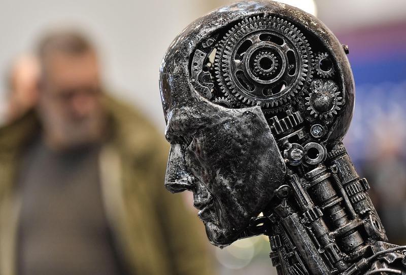 Robot statue
