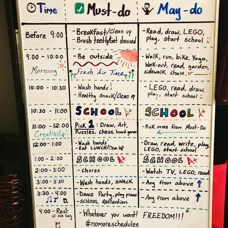 Interactive schedule